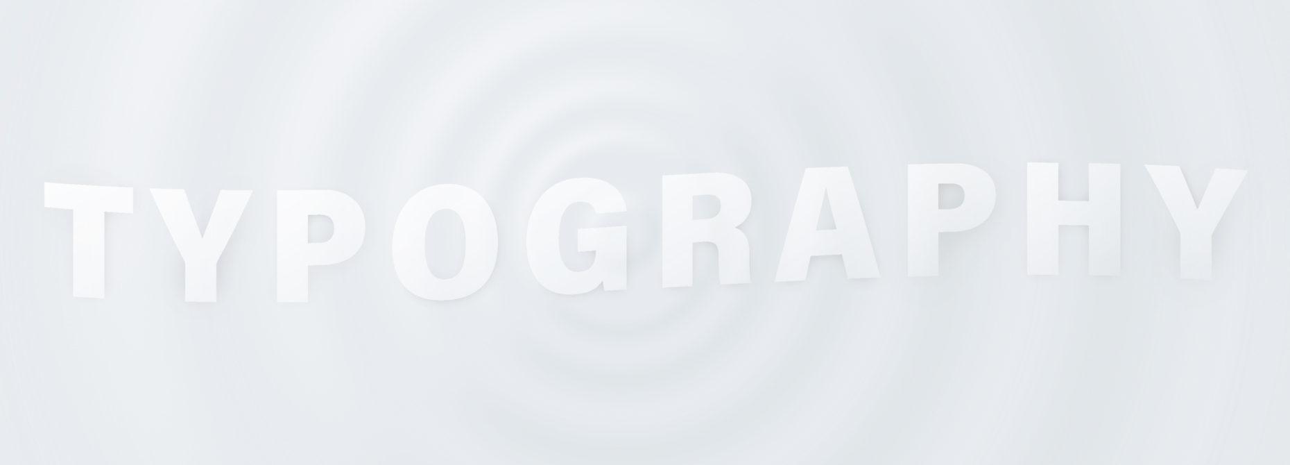 <span>Typography</span>